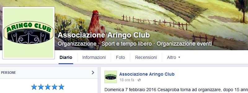 aringo club su facebook
